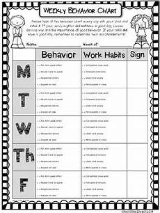 Weekly Behavior Chart Weekly Behavior Chart Editable Amp Free By More Time 2