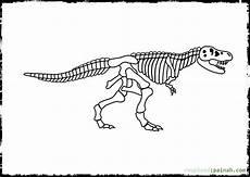 malvorlage dino skelett zeichnen und f 228 rben