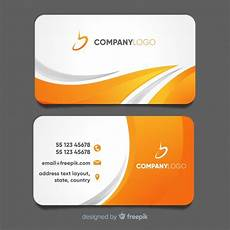 Sample Calling Card Format Modern Business Card Template With Abstract Design Free