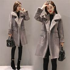 womans plus coats winter shearling coats faux suede leather jackets