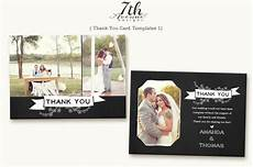 thank you card photoshop template free thank you card 1 card templates creative market