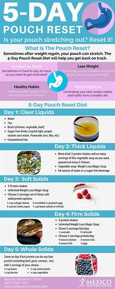 5 day pouch reset diet infographic pouch reset