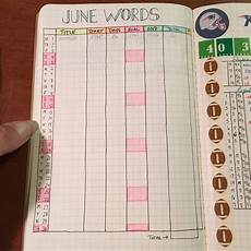 Journal Word Bullet Journal Word Count Tracking Page Shannon Stacey