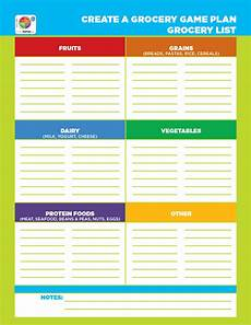 Printable Grocery Shopping List Template 40 Printable Grocery List Templates Shopping List ᐅ