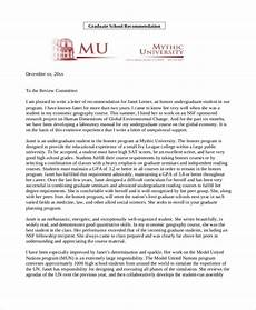 Write Letter Of Recommendation For Student Free 10 Sample Recommendation Letters For Students In Pdf