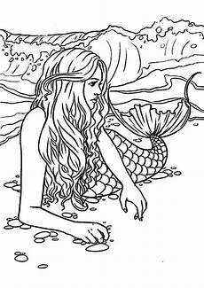 Ausmalbilder Erwachsene Meerjungfrau Meerjungfrauen 7 Ausmalbilder Malvorlagen