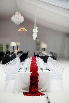 reception d 233 cor photos black white red wedding table