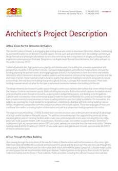 Architecture Project Description Download Architecture Project Description Template For
