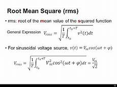 Root Mean Square Equation What Is An Rms Value And An Average Value Quora