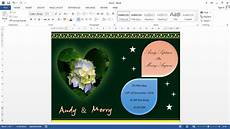 How To Make Invitations On Microsoft Word Microsoft Word Tutorial How To Make Wedding Invitation