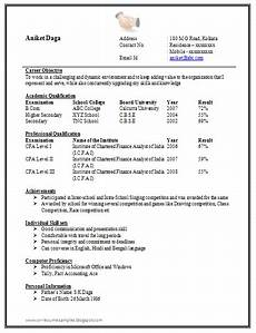 Curriculum Vitae Samples For Freshers Awesome One Page Resume Sample For Freshers Resume