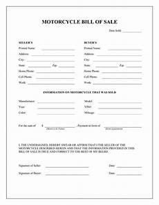 Bike Selling Agreement Format Free Printable Motorcycle Bill Of Sale Form Template