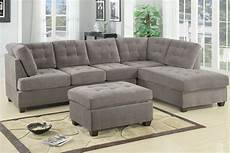 Sofa With Chaise Lounge 3d Image by Modern Gray Fabric Sectional Sofa Set Reversible Chaise