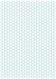 Printable Hex Grid Hexagon Graph Paper With 1 4 Inch Spacing On Letter Sized