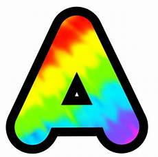 Colored Bubble Letters Display Letters And Numbers Multi Colour Tie Dye