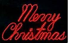 Rope Light Christmas Signs Quot Merry Christmas Quot Red Led Rope Light Sign Signs