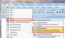 Save Word Template Where To Save Download And Install Template In Word 2007