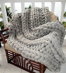 chunky cable knit throw blanket easy tutorial