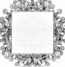 Blank Designs Vector Of Formal Blank Copyspace Box Over A Black Floral