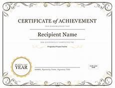 Social Service Certificate Format Certificate Of Achievement
