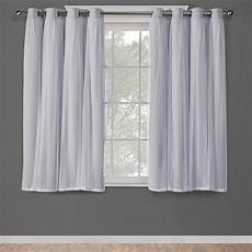 Curtain Images Catarina Cloud Grey Layered Solid Blackout And Sheer