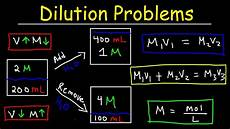 Chemistry Concentration Problems Dilution Problems Chemistry Molarity Amp Concentration