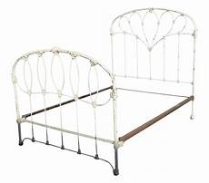 antique country iron bed frame farmhouse chic