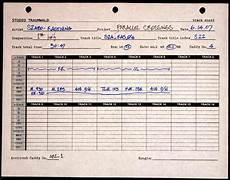 Recording Track Sheet Kevin Kastning Parallel Crossings