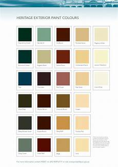 Heritage Paint Colour Chart Heritage Exterior Paint Colours Exterior Paint Colors