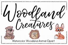 woodland clipart watercolor clipart animal clipart