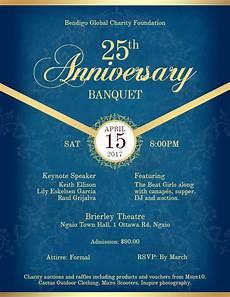 Invitation Flyer Template Anniversary Formal Banquet Dinner Invitation Flyer