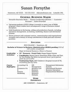 Resumes For Graduating College Students College Resume Monster Com