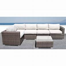 Wicker Sofa Outdoor Set Png Image by Darvin 6 Sectional Seating With Cushions In