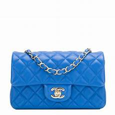 Chanel Mini Light Blue Chanel Blue Quilted Lambskin Rectangular Mini Classic Flap