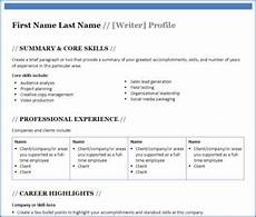 Profile Template Professional Profile Template Free Download