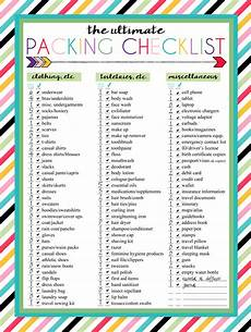 Printable Packing List I Should Be Mopping The Floor Free Printable Ultimate