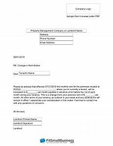 Rent Increase Letter To Tenant Sample Sample Rent Increase Letter Free Templates