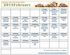 Menu Calendar Healthy Dinner Menu For February Premeditated Leftovers