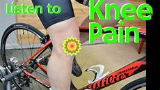 Fix Cycling Knee By Listening To Your Body Youtube