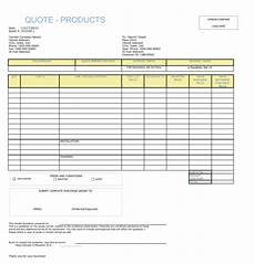 Spreadsheet Quotes 28 Free Quotation Templates Of Every Type Excel Word Amp Pdf