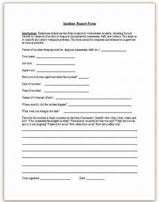 Eiu Incident Report Workplace Incident Report Form