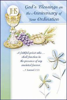 Ordination Anniversary Greeting Card Holyfamilyonline Com