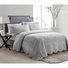 vcny home westland quilted plush bedding bedspread set