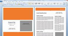 Microsoft Word Layout Templates Modern Proposal Template For Microsoft Word