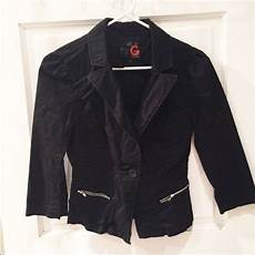 guess coats for thin g by guess black quarter sleeve jacket jackets clothes