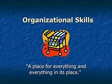 List Of Organisational Skills Organizational Skills