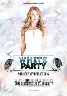 Free All White Party Flyer Template 25 Free Stylish Psd Flyers Template Designmaz