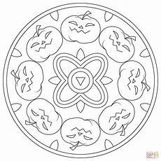 halloween mandala coloring pages halloween mandala with pumpkins coloring page free