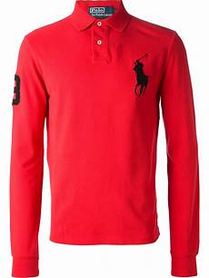ralph sleeve polo shirts for lyst polo ralph sleeve polo shirt in for