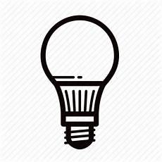 Led Light Bulb Symbol Bulb Led Light Lightbulb Icon